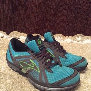 """Brooks Pure Candence Women""""s Blue Black Green 8.5"""